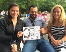Get Your Free Caricature! Not an Exaggeration!