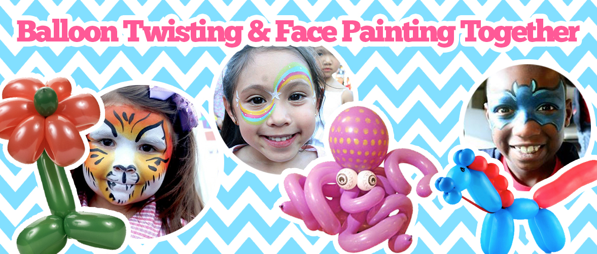 Face painters balloon twisters clowns and more in ct ma for Cheap face painting houston