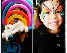 Face Painting & Balloon Twisting: Together at Last!