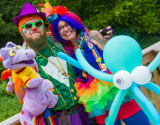 Kids LOVE our balloon twister and face painter clowns – check them out!